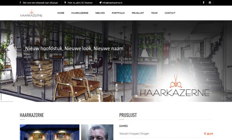 Nieuwe Site Haarkazerne Kapper Nuenen